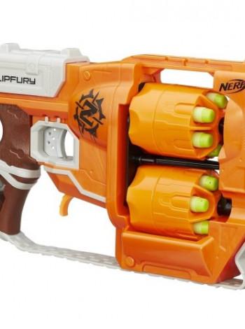 Игрушка Zombie Strike FlipFury Blaster +12патронов NERF