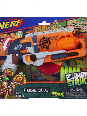 Игрушка Zombie Strike Hammershot Blaster +5шт патрон NERF