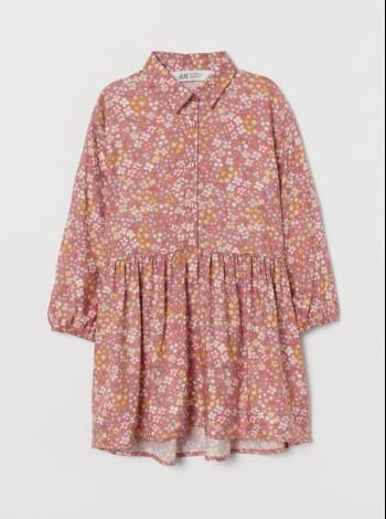 Платье на длинный рукав для девочки