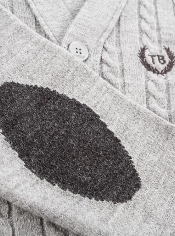 Кофта кардиган серый   865