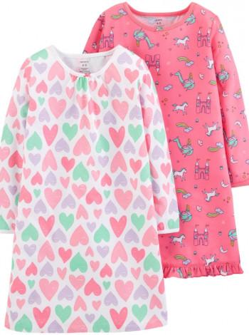 Ночная рубашка для девочки малиновая Carters