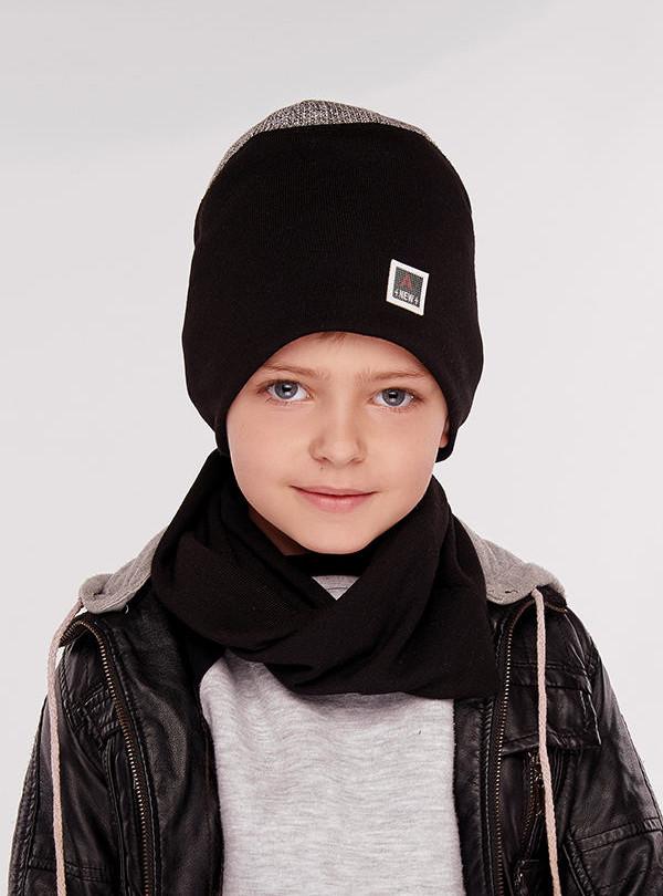 Осіння шапка Германн (набір) сірий DemboHouse 574