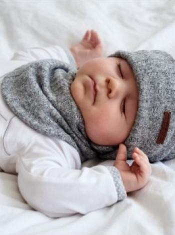Комплект шапка и хомут для мальчика Рио