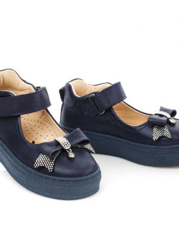 Туфлі з нубука та шкіри