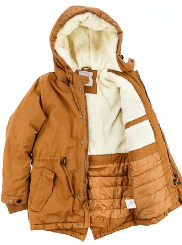 Куртка парка на мальчика горчичный   946