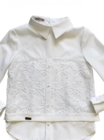Школьная блузка с кружевом Полли Suzie
