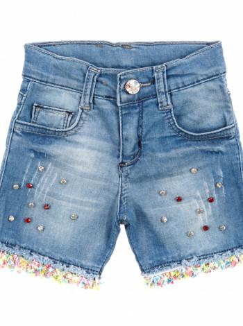 Шорты джинсовые стразы