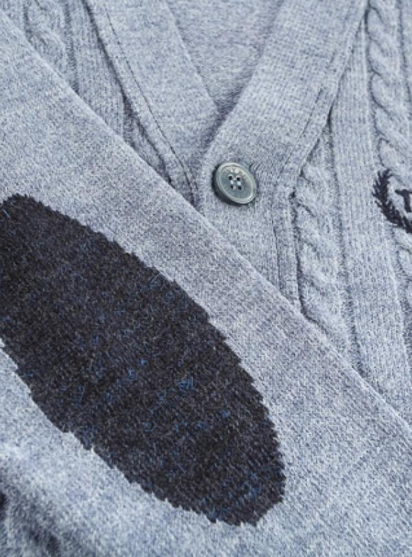 Кофта кардиган синий   864