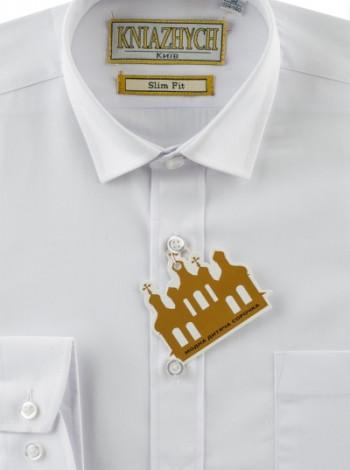 Рубашка Княжич белая slim