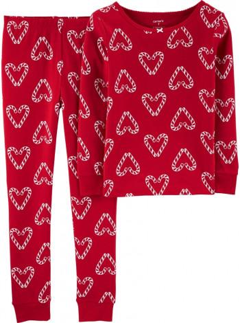 Піжама котонова  Hearts дівчинка Carters червона