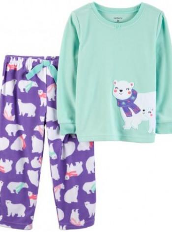 Пижама флисовая на девочку Carters