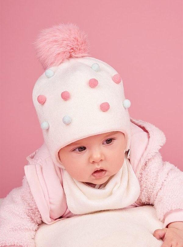 Зимний комплект шапка и хомута Dembohouse   942