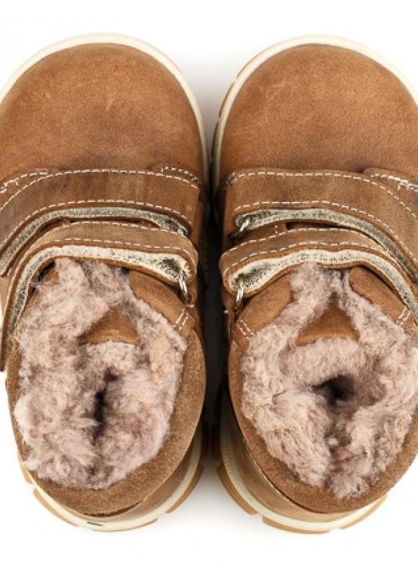 Зимние ботинки из нубука на натуральном меху   957