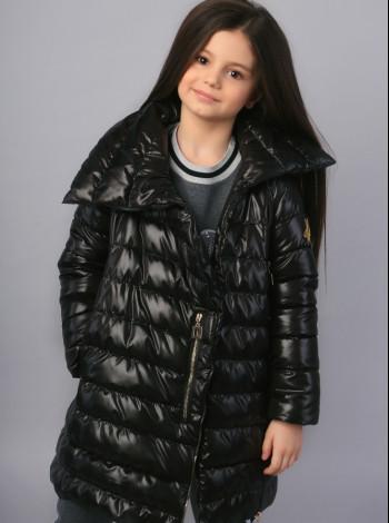 Пальто Mone черное для девочки