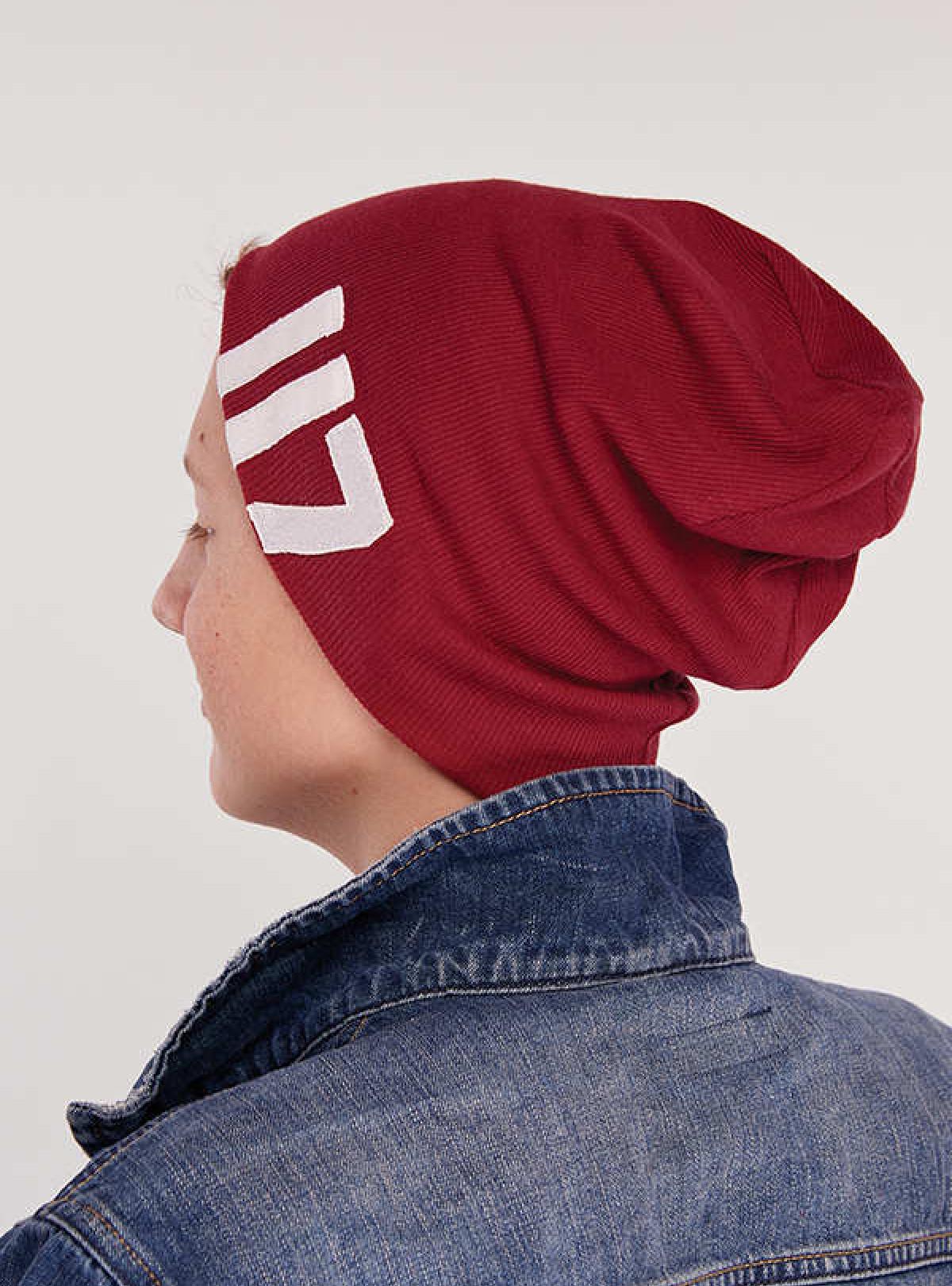Осіння шапка Айзек бордо DemboHouse 577