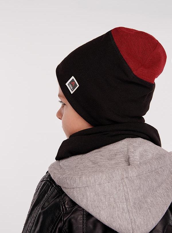Осіння шапка Германн (набір) бордо DemboHouse 575